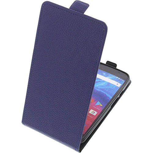 foto-kontor Tasche für Archos Core 55 Smartphone Flipstyle Schutz Hülle blau
