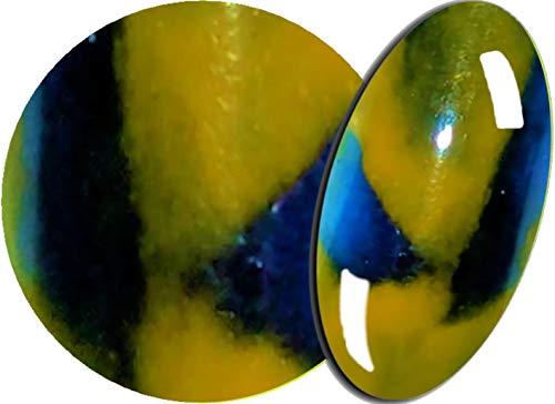 De 2 Färbiges acrylique de poudre 5 g, 2tones-36 Bleu/Jaune – envyu : # 2T pour la Rapide mais joli Nail Art