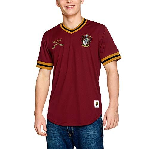 Harry Potter Herren T-Shirt Gryffindor Quidditch Team Trikot rot - XXL