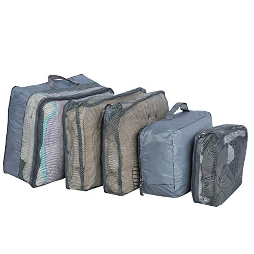 Haokaini Travel Storage Bag, 5pcs Resealable Suitcase Packing Bags, Convenient Practical Clothes Shoes Pouch, for Accommodating Small Travel Goods, Underwear, Cosmetics