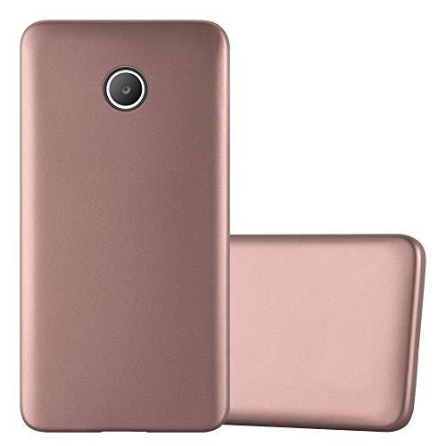 Cadorabo Hülle für Huawei Y330 in METALLIC ROSÉ Gold - Handyhülle aus flexiblem TPU Silikon - Silikonhülle Schutzhülle Ultra Slim Soft Back Cover Case Bumper