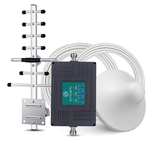 ANNTLENT Amplificador Señal Movil 2G 3G 4G Tri-Banda Repetidor gsm 900/2100/2600MHz Compatible con Movistar/Orange/Yoigo/Vodafone para el Hogar/Oficina