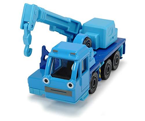Dickie Toys 203131001 Bob der Baumeister Heppo Spielzeugauto mit Freilauf und beweglichen Teilen, 1:64, Blau, 7 cm