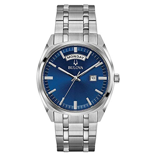 Bulova Herren Analog Quarz Uhr mit Edelstahl Armband 96C125