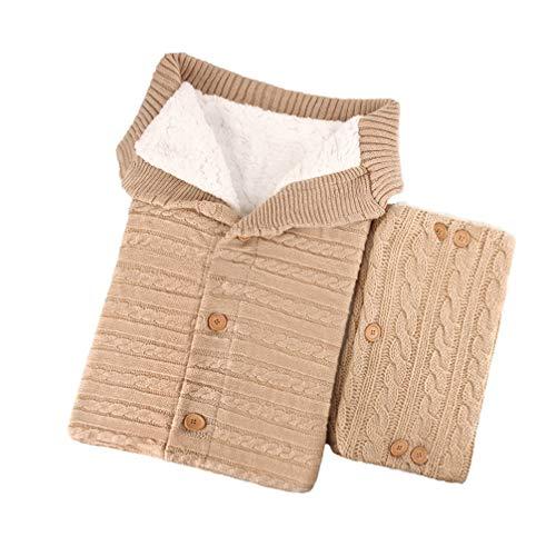 Toyvian Strickschlafsack mit Kinderwagengriffbezug warmer Schlafsack für Baby Kleinkind Neugeborenes