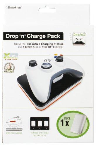 Xbox 360 drop`n charge Pack white