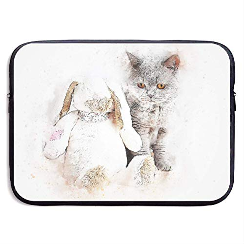 JKOVE Borsa per PC Portatile,Printed Cat Art Abstract Pet Ultrabook Briefcase Sleeve Bags Cover for MacBook Pro/Acer/Asus/Lenovo Dell