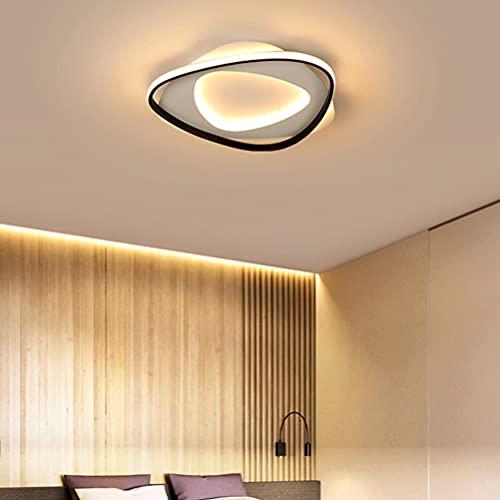LED moderna Lámpara de techo a distancia creativa y chic redonda regulable con mando de diseñador para salón dormitorio pasillo cocina habitación infantil baño comedor loft balcón sótano (D45)