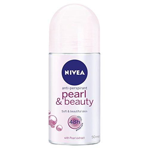NIVEA Pearl & Beauty Roll On Anti-Perspirant Deodorant, 50ml