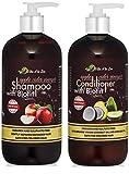 Apple Cider Vinegar & Biotin Shampoo & Conditioner (2 x 16oz) | Infused with Aloe Vera Juice, Argon...