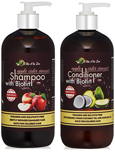 Apple Cider Vinegar & Biotin Shampoo & Conditioner (2 x 16.9...