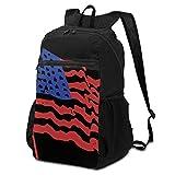 Mochila de viaje al aire libre de la bandera americana para hombres y mujeres, plegable, ligera, impermeable, gran capacidad