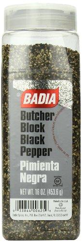Badia Black Pepper Butcher Block, 16 Ounce