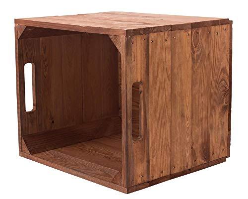 moooble 1er Holzkiste Used für Kallax Regale 33cm x 37,5cm x 32,5cm IKEA Regalkiste rustikal Ikeaeinsatzkiste als Küchenregal Weinkiste unbehandelt Wandregal Badregal Obstkisten alt