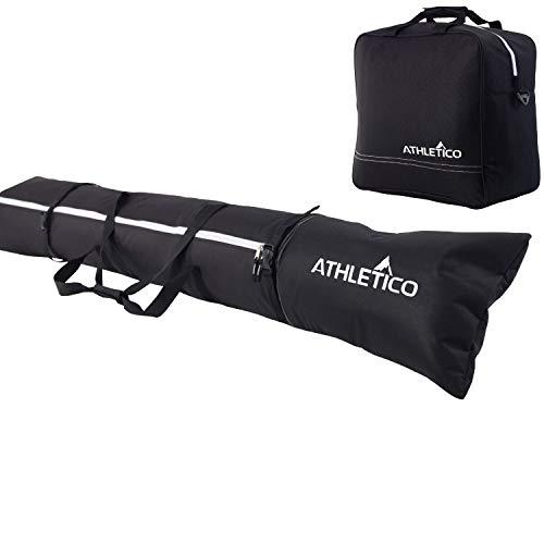 Athletico Padded Ski Bag Combo - Ski Bag & Separate Ski Boot Bag - Store &...