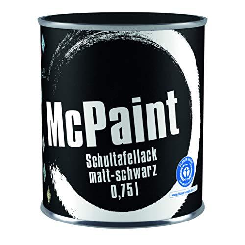 McPaint Schultafellack für innen, einfacher Effekt, matt, 0,750L, schwarz