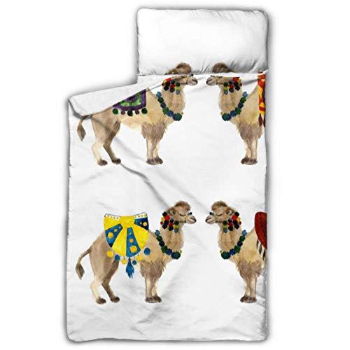 Sacs de couchage de camping en forme de sable du désert merveilleux pour les enfants Tapis de sieste enroulable avec couverture et coussin design idéal pour les pyjamas de garderie préscolaire 50 \
