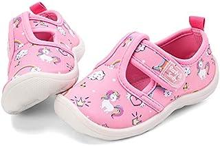 nerteo Boys Girls Cute Aquatic Water Shoes | Rainbow, Dinasour, Unicorn, Shark | Toddler/Little Kid