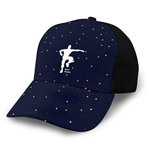 Best Mates Emote Dances Ped Adjustable Peaked Cap Cotton Hip Hop Baseball Hats Green