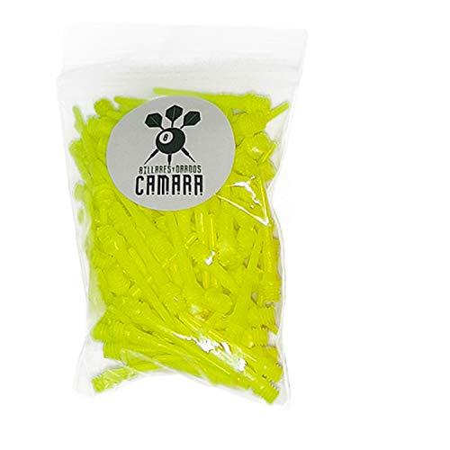 BILLARES Y DARDOS CAMARA Bolsa con 100 Puntas de Dardos de plástico Diana electrónica (Amarillo)