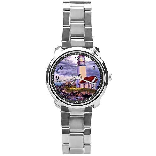 Soloatman Lighthouse Horloge Polshorloge Analoog Horloge met Staal Band Jongens Jongens Horloge