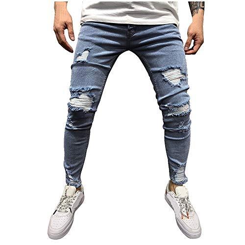 MMUJERY Pantalones Vaqueros Hombre Pitillo Pantalones Largos para Hombre Pantalones Casuales Moda...