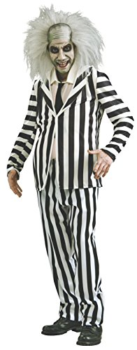 Men's Striped Beetlejuice Costume, Up to 2XL