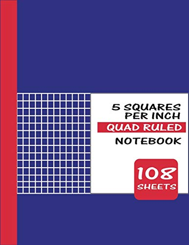 5 squares per inch quad ruled notebook: Amazon Basics Graph Ruled Loose Leaf Filler Paper, 100 Sheet, 11 x 8.5 Inch, 6-Pack