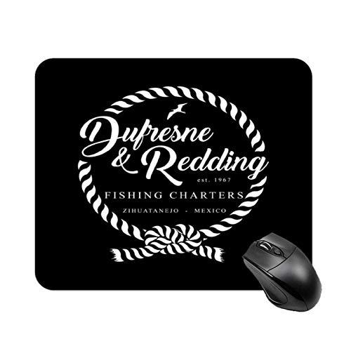 Dufresne und Redding Fishing Shawshank Redemption Rutschfeste Hochgeschwindigkeits-Spieltischmatte, quadratisches Mauspad mit Gummibasis, kundenspezifische kleine Schreibtischmatte