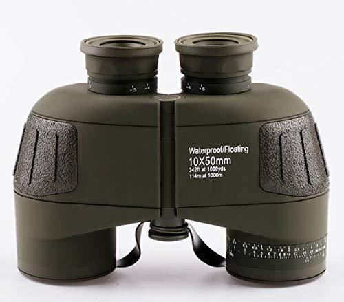 boc Teleskop-Astronomie Reise Magnifier10X50 Binoculars Hd und Nicht-IR-Nachtsichtbrille mit Stickstoffwasserdicht Erwachsener Kompass Entfernung, Grün,Das Grün