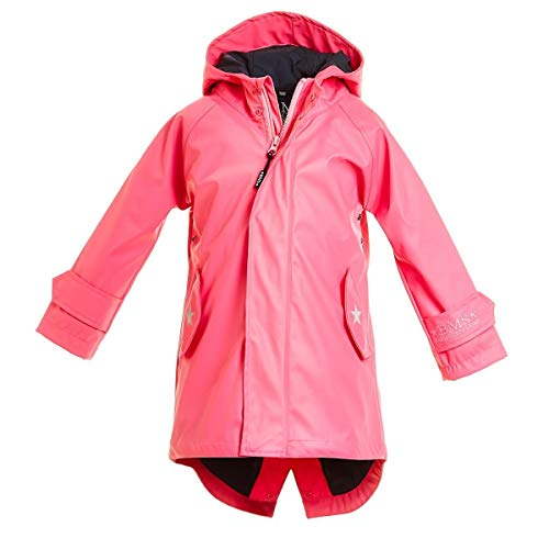 BMS Kinder Regenmantel - 100% wasserdicht - pink - 152