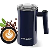 Automatic Milk Frother, Electric Milk Frother & Steamer Stainless Steel Non Stick Ceramic Steamer Hot & Cold Milk 3 Temperature Control Foam Maker for Milk, Coffee, Cappuccino, Hot Chocolate-Duomishu