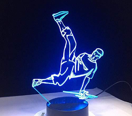 Street Dance Usb 3D LED nachtlampjes meerdere kleuren LED 3D lamp Disco 3D decoratie lichten Hip-Hop cultuur remote telefoon Bluetooth besturingskleur