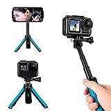 TELESIN - Mini trípode telescópico de Mano para Selfies, monopié de Mano para Gopro/Osmo Action/SJCAM/AKASO/Otras cámaras Deportivas