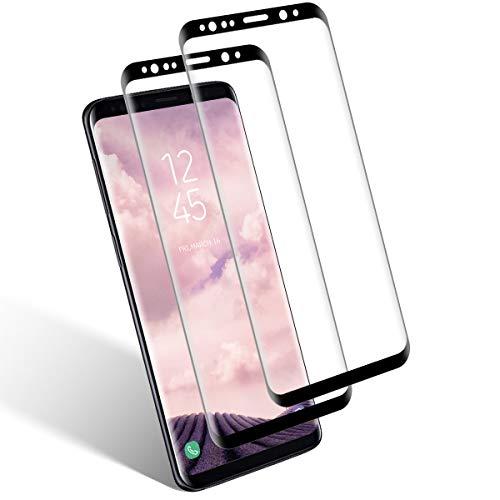 Aspiree Ecran Protection pour Samsung Galaxy S8, Lot de 2, Verre Trempé Dureté 9H, Anti-Rayure, Sans Bulles D'air, HD 99% Transparent