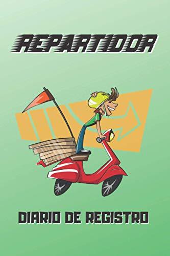 REPARTIDOR, DIARIO REGISTRO: Lleva un seguimiento detallado de tus repartos: Fecha, Horas trabajadas, Distancia recorrida, Propinas, Pedidos Cancelados... | Regalo práctico para Riders profesionales.