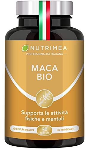 Maca Peruviana Biologica | 90 Capsule Vegetali Pura Radice Maca delle Ande 1500 mg al Giorno | Integratore Naturale Tonicità e Energia per Uomo e Donna Titolo