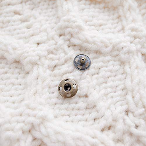 【スナップボタン(縫い付けタイプ)】メタル(金属)スナップボタン #ASP0001 10mm C/#AG アンティークゴールド 10個セット
