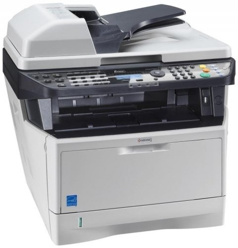 Kyocera 1102PN2US0 ECOSYS M2535dn Black and White Multifunctional Network Printer; Standard Print, Copy, Fax and Color Scan; Fast Output Speed of 37 Pages per Minute; Resolution 600 x 600 dpi