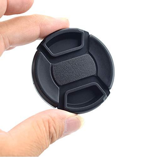 58mm Kamera Objektivdeckel,Objektivdeckel oder Zentrum Pinch Objektivdeckel für Nikon, Canon, Sony und andere DSLR-Kameras (58mm Kamera Objektivdeckel)