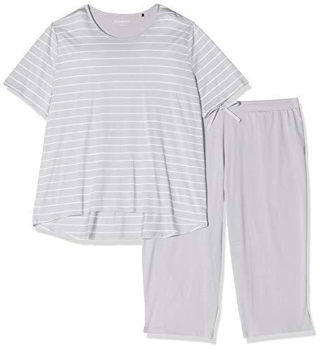 Schiesser Damen Anzug 3/4, 1/2 Arm Zweiteiliger Schlafanzug, Grau (hellgrau 204), 42