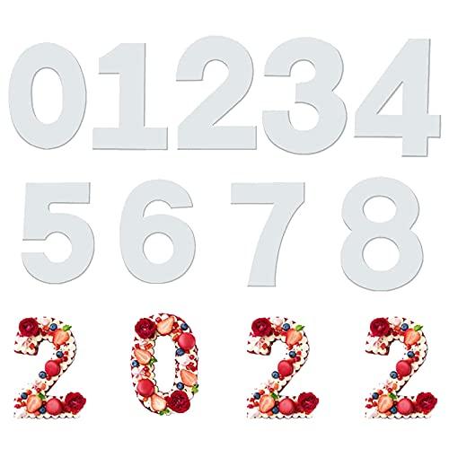 Molde Grande para Tartas 8 Moldes Número para Tarta Cumpleaños Molde para Tarta de Número con Números Día especial por aniversario 8 inch(9 piezas)