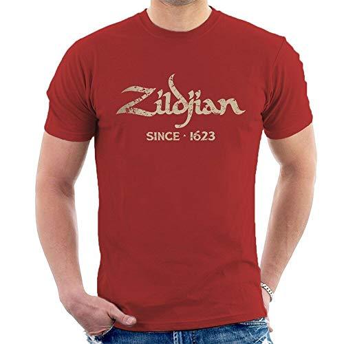 Zildjian Mens T-Shirt Since 1623 Cymbals Drums Drummer Red L
