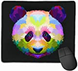 Mauspad Bunte Panda Kopf rutschfeste Gummibasis verärgert wasserdichte Mauspad für Laptop, Computer, PC, Tastatur