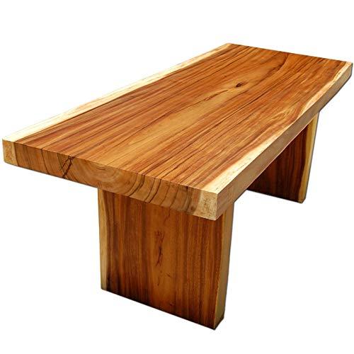 Massivholz Esstisch aus Suar Holz sauber rechteckig geschnitten 200x80 cm 142 Kg