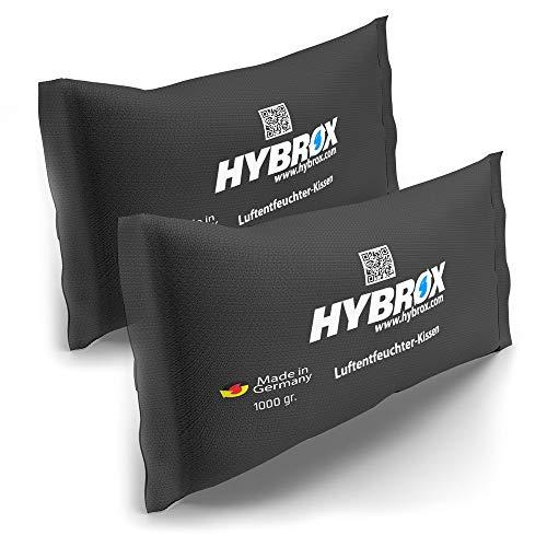 HYBROX Auto Luftentfeuchter Kissen - Wiederverwendbar, Entfeuchter, Autoentfeuchter (SPARSET 2x1000g)