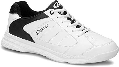 DEXTER Ricky IV Bowling Schuhe für Einsteiger und Profis Größe 38-47 in 3 (Weiß/Schwarz, 44)