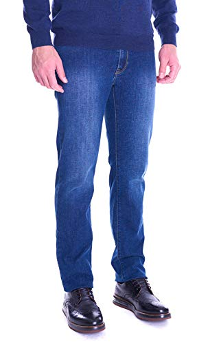 Trussardi Jeans 380 Icon-SSW + Sandblasted Jeans Relaxed, Blu (Blue Navy U290), 44 (Taglia Produttore:31) Uomo