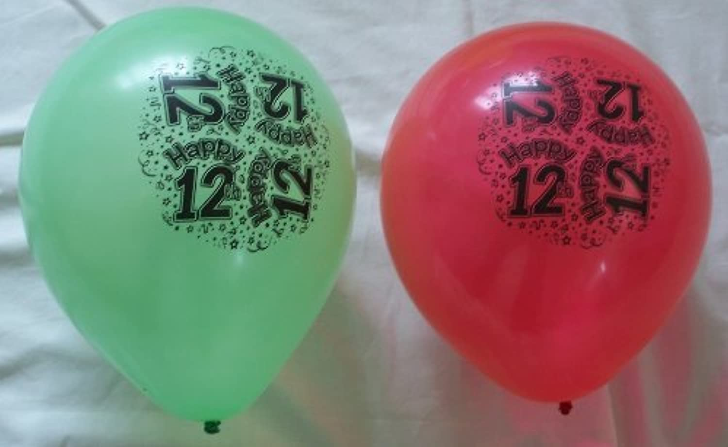 PACK OF 8 HAPPY 12TH BALLOONS CAN BE INFLATED WITH HELIUM OR AIR BOY OR GIRL by BCBGMAXAZRIA