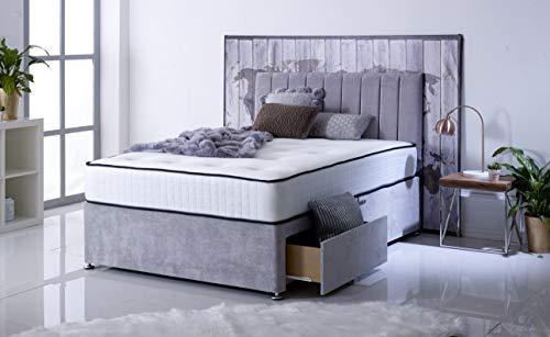 Comfort Night Sleep's Bravo Divan Bed With Mattress And Headboard | 2 Drawer same side (3FT Single)